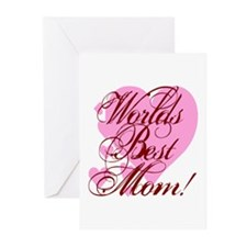 Mother's Day Worlds Best Mom Greeting Cards (Packa