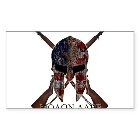 Molon Labe Crossed Gun Sticker