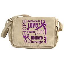 Epilepsy Hope Words Messenger Bag