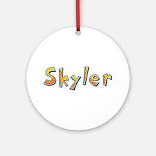 Skyler Giraffe Round Ornament