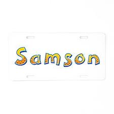 Samson Giraffe Aluminum License Plate