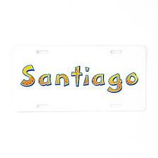 Santiago Giraffe Aluminum License Plate