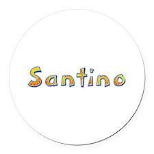 Santino Giraffe Round Car Magnet