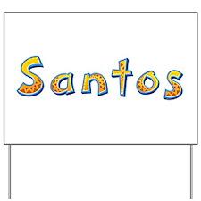 Santos Giraffe Yard Sign