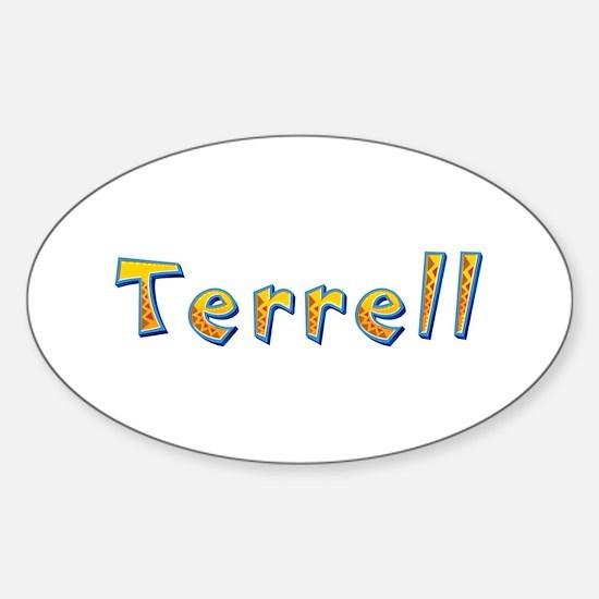 Terrell Giraffe Oval Decal