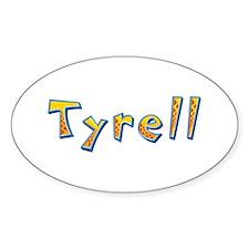 Tyrell Giraffe Oval Decal