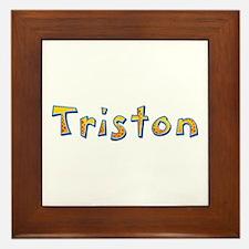 Triston Giraffe Framed Tile