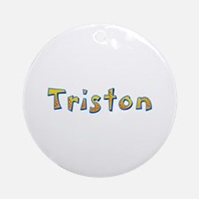 Triston Giraffe Round Ornament