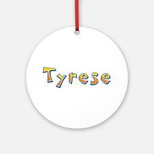 Tyrese Giraffe Round Ornament