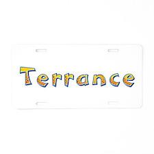 Terrance Giraffe Aluminum License Plate