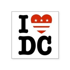 I Love DC Rectangle Sticker