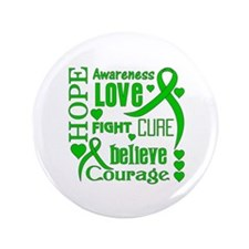 "Gastroparesis Hope Words 3.5"" Button"