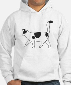 Cat With Black Spots Jumper Hoody