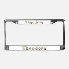 Theodore Giraffe License Plate Frame