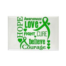 Glaucoma Hope Words Rectangle Magnet