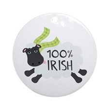 100% Irish Ornament (Round)