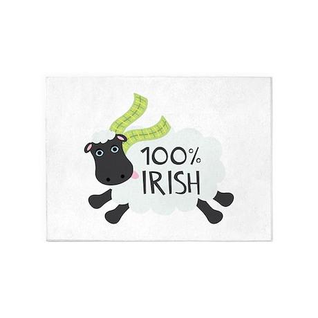 100% Irish 5'x7'Area Rug