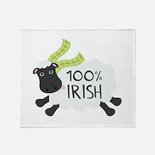 100% Irish Throw Blanket
