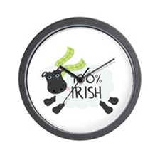 100% Irish Wall Clock