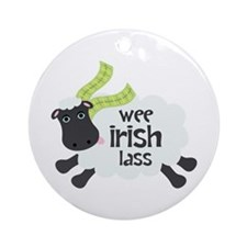 Wee Irish Lass Ornament (Round)
