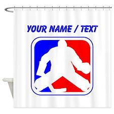 Custom Hockey Goalie League Logo Shower Curtain
