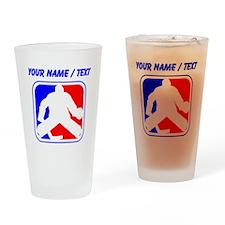 Custom Hockey Goalie League Logo Drinking Glass