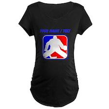 Custom Hockey Goalie League Logo Maternity T-Shirt