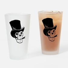 Black Skull Drinking Glass