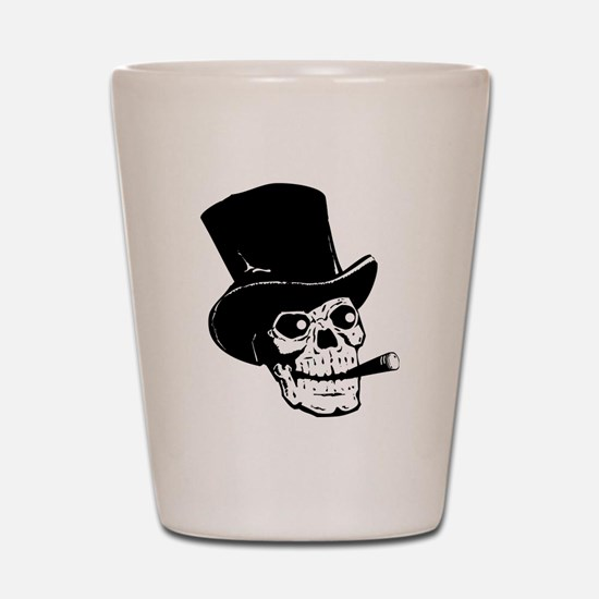 Black Skull Shot Glass