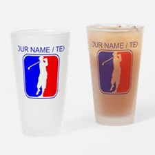 Custom Golf League Logo Drinking Glass