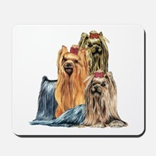 Yorkshire Terrier Yorkie Collage Mousepad