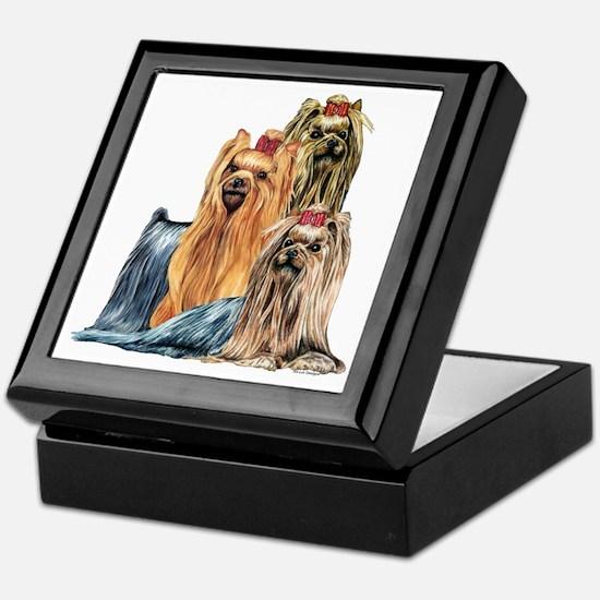 Yorkshire Terrier Yorkie Collage Keepsake Box
