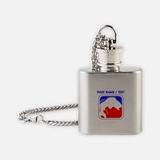 Custom Fishing League Logo Flask Necklace