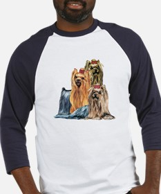 Yorkshire Terrier Yorkie Collage Baseball Jersey