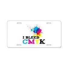 Bleed CMYK Aluminum License Plate