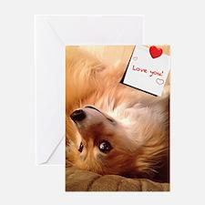 Fun Corgi Valentine Greeting Card
