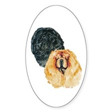 Chow Chow Oval Decal