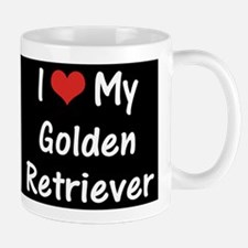 I Heart My Golden Retriever Mug