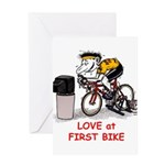 Love at First Bike T-shirt.png Greeting Cards