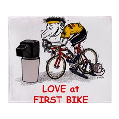 Love at First Bike T-shirt.png Throw Blanket