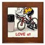 Love at First Bike T-shirt.png Framed Tile