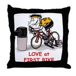 Love at First Bike T-shirt.png Throw Pillow
