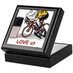 Love at First Bike T-shirt.png Keepsake Box
