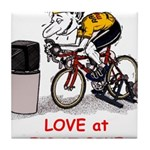 Love at First Bike T-shirt.png Tile Coaster
