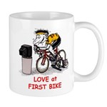 Love at First Bike T-shirt.png Mugs
