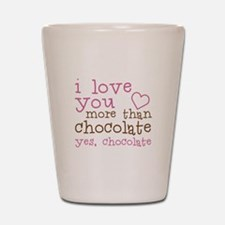 Love Chocolate Shot Glass