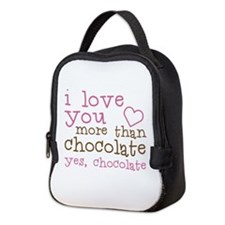Love Chocolate Neoprene Lunch Bag