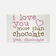 Love Chocolate Rectangle Magnet