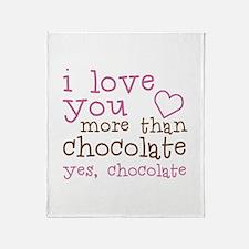 Love Chocolate Throw Blanket