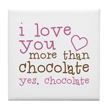 Love Chocolate Tile Coaster